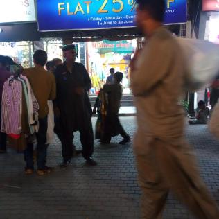 Security Guard taking illegal fees from garments seller